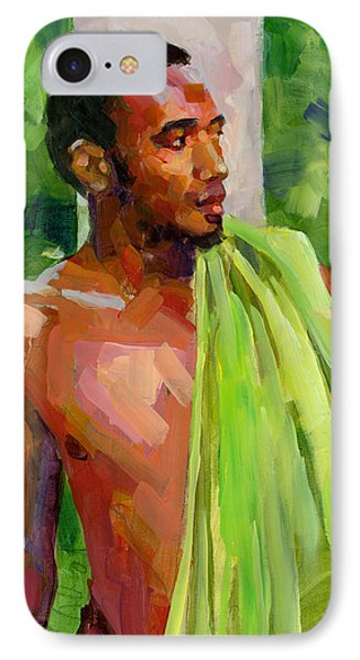 Dominican Boy With Towel Phone Case by Douglas Simonson