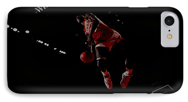 Dominique Wilkins Took Flight IPhone Case by Brian Reaves