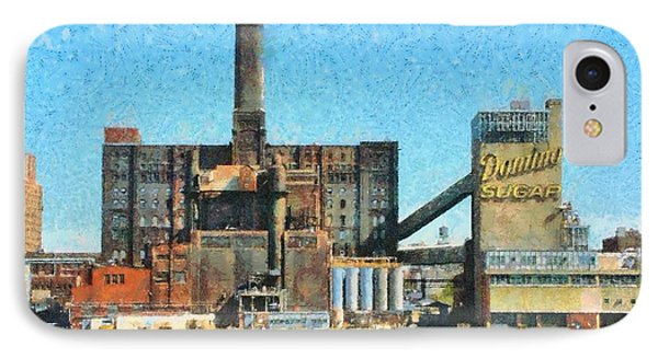 Domino Sugar New York IPhone Case by Mick Flynn