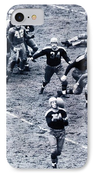 Don Hutson In Action IPhone Case by Gianfranco Weiss