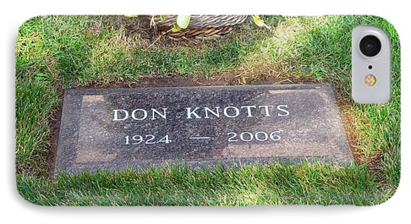 Don Knotts Grave IPhone Case by Jeff Lowe