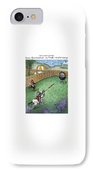 Don Quixote In The Hamptons IPhone Case