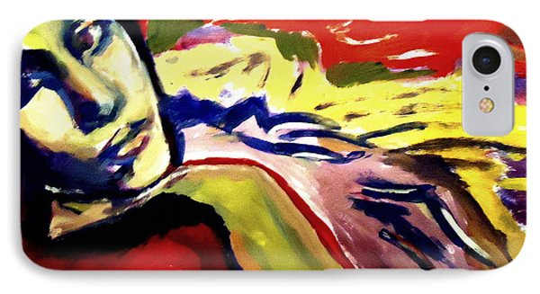 IPhone Case featuring the painting Don T Look Back by Helena Wierzbicki