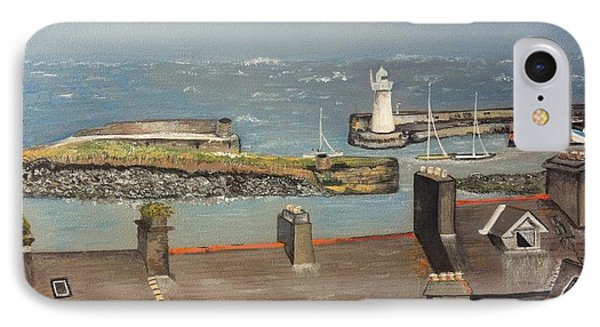 IPhone Case featuring the painting Donaghadee Ireland Irish Sea by Brenda Brown