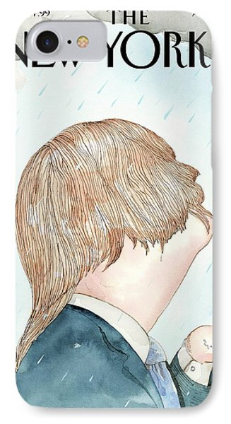 Donald's Rainy Days IPhone Case by Barry Blit