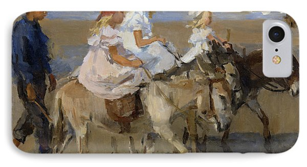 Donkey Rides Along The Beach IPhone Case