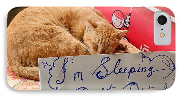 Dont Disturb - Sleeping Cat IPhone Case by Dean Harte