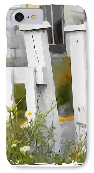 IPhone Case featuring the painting Don't Pick The Daisies by Bob Salo