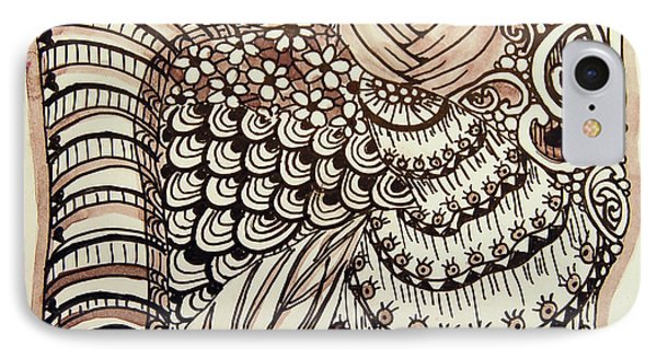 Doodling Fun IPhone Case by Terry Holliday