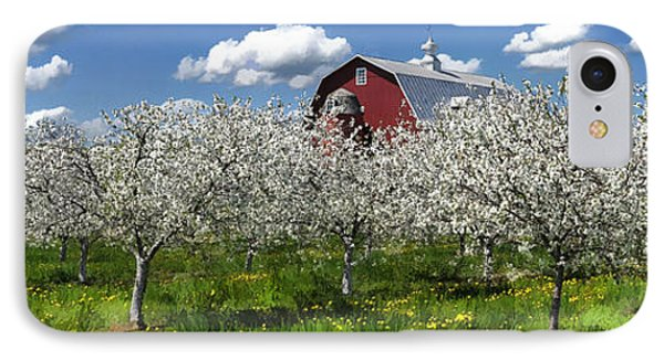 Door County Cherry Blossoms Panorama IPhone Case