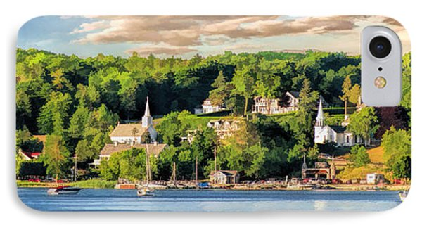 Door County Ephraim Harbor Sunset  Panorama IPhone 7 Case by Christopher Arndt