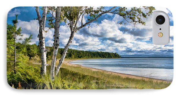 Door County Europe Bay Birch IPhone Case by Christopher Arndt