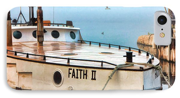 Door County Gills Rock Faith II Fishing Trawler IPhone Case by Christopher Arndt