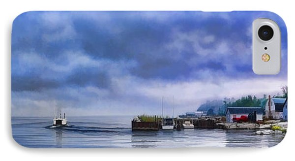 Door County Gills Rock Morning Catch Panorama IPhone Case by Christopher Arndt