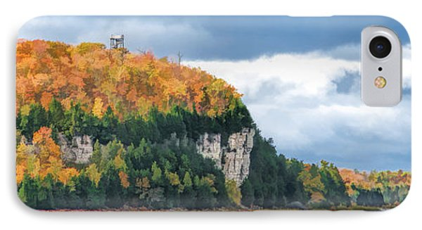 Door County Peninsula State Park Bluff Panorama IPhone Case by Christopher Arndt