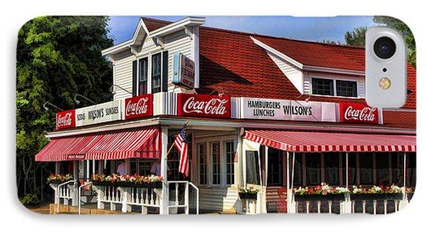 Door County Wilson's Ice Cream Store IPhone Case by Christopher Arndt