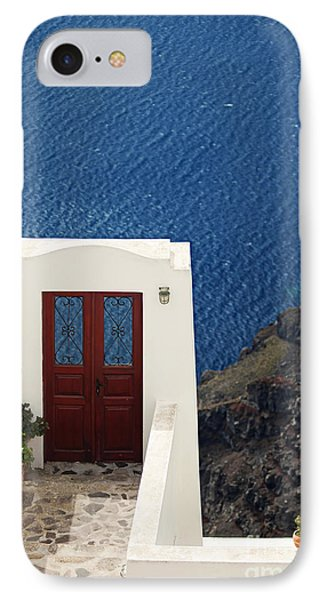 Door Facing The Aegean Sea IPhone Case by Aiolos Greek Collections