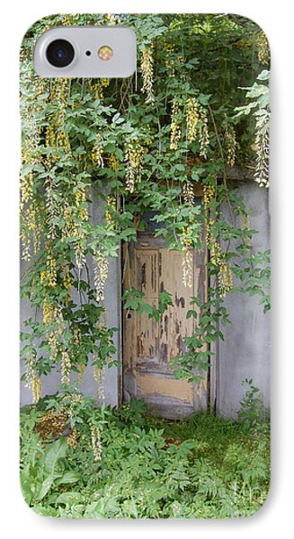 IPhone Case featuring the photograph Door Hidden By Flowers by Linda Prewer