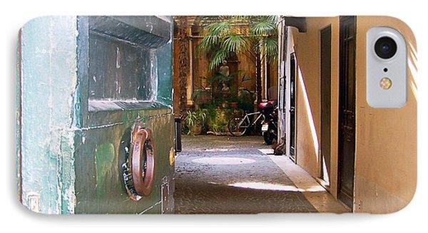Door In Florence IPhone Case by Debby Pueschel