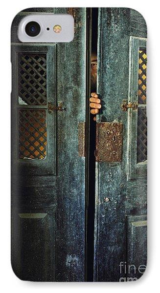 Door Peeking IPhone Case