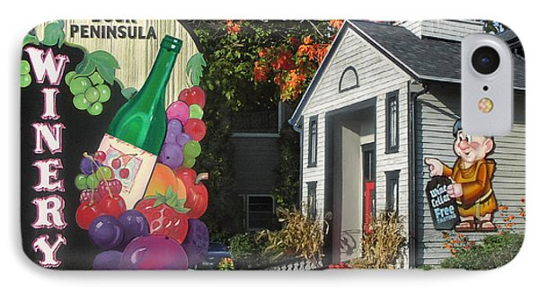 Door Peninsula Winery IPhone Case by Doug Kreuger