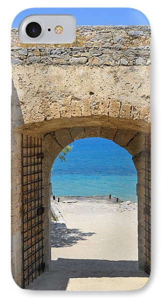 Door To Joy And Serenity - Beautiful Blue Water Is Waiting IPhone Case by Matthias Hauser