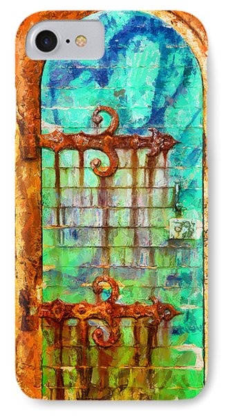 IPhone Case featuring the painting Door To Lighthouse by Kai Saarto