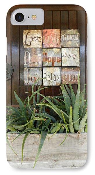 Door With A Message Phone Case by Leana De Villiers