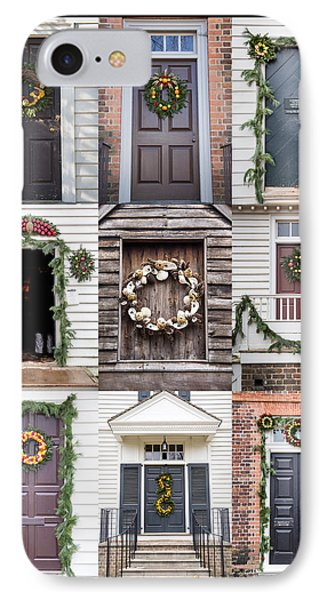 Doors Of Williamsburg Collage IPhone Case by Teresa Mucha