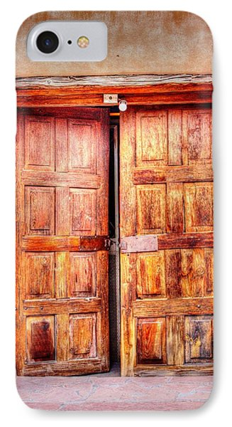 Doors To The Inner Santuario De Chimayo IPhone Case by Lanita Williams