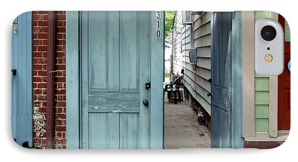 Doorways Of Bordentown Series - Door 2 IPhone Case by Sally Simon