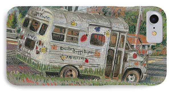 IPhone Case featuring the painting Doodlebugs Bus by Donald Maier