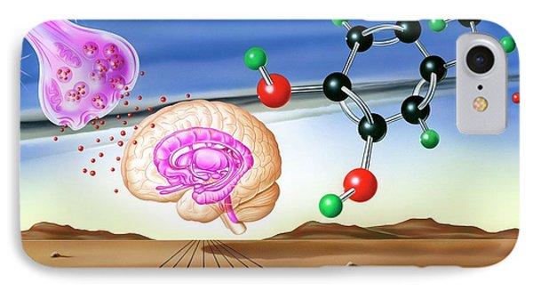 Dopamine Brain Chemistry IPhone Case by John Bavosi