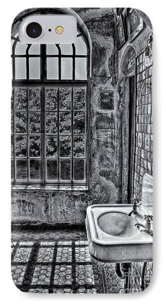 Dormer Bathroom Side View Bw Phone Case by Susan Candelario