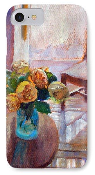 Dormer Light- Morning Light And Roses IPhone Case