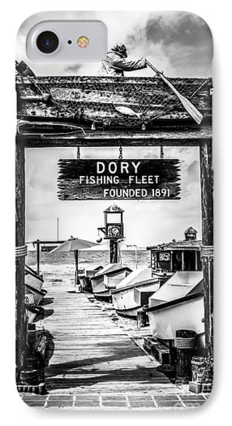 Dory Fishing Fleet Market Black And White Picture IPhone Case by Paul Velgos