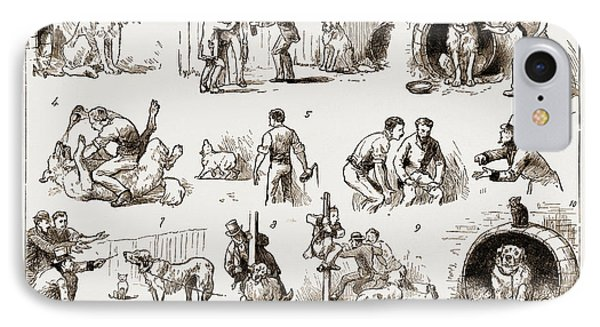 Dosing A Dog, 1883 1. Our St. Bernard Showed Symptoms IPhone Case by Litz Collection