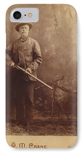 IPhone Case featuring the photograph Double Barrel Shotgun Hunter by Paul Ashby Antique Image