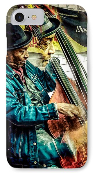 IPhone Case featuring the photograph Double Bass. Man by Glenn Feron