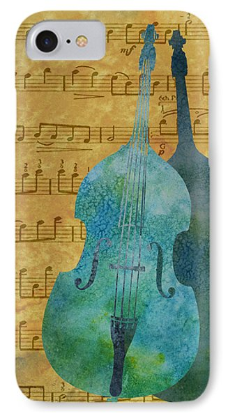 Double Bass Score IPhone Case by Jenny Armitage