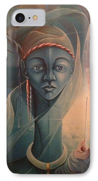 Double Face Of A Voodoo Woman IPhone Case by Haitian artist