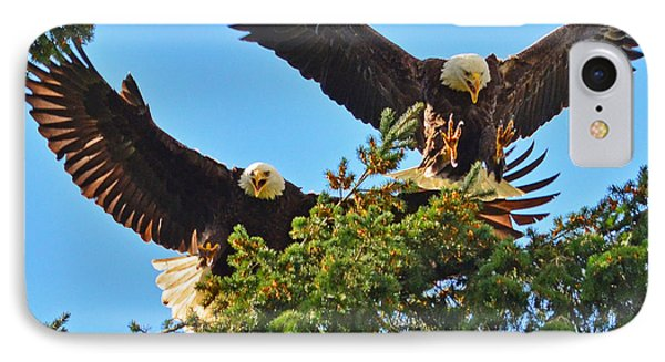 IPhone Case featuring the photograph Double Landing by Jack Moskovita