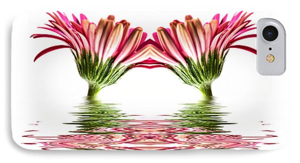 Double Pink Gerbera Flood Phone Case by Steve Purnell