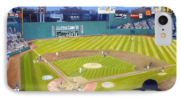 Double Play In Fenway IPhone Case by Candace Lovely