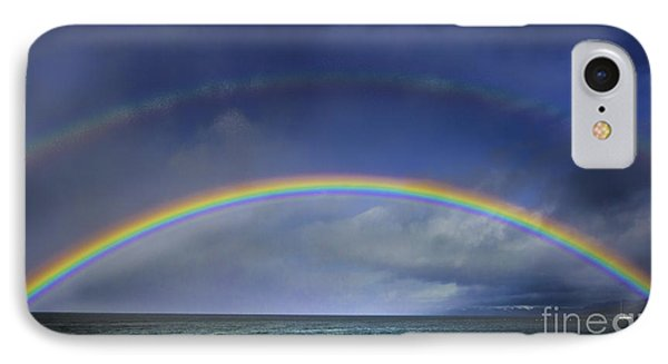 Double Rainbow Over Lake Tahoe IPhone Case by Mitch Shindelbower