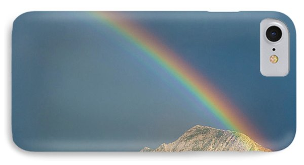 Double Rainbow Over Mount Olympus IPhone Case by Howie Garber