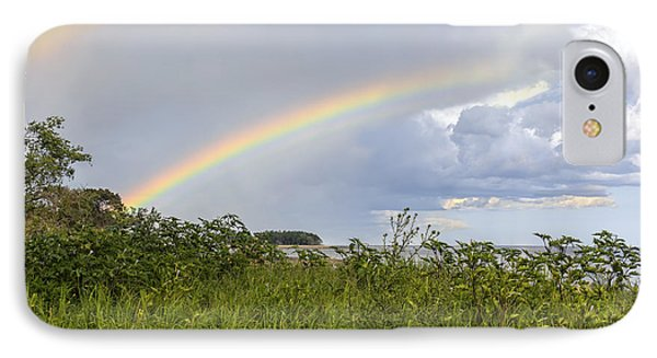 Double Rainbow Sheffield Island IPhone Case by Marianne Campolongo
