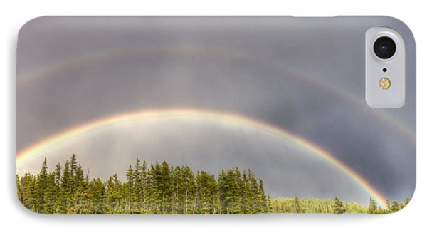 IPhone Case featuring the photograph Double Rainbow by Wanda Krack