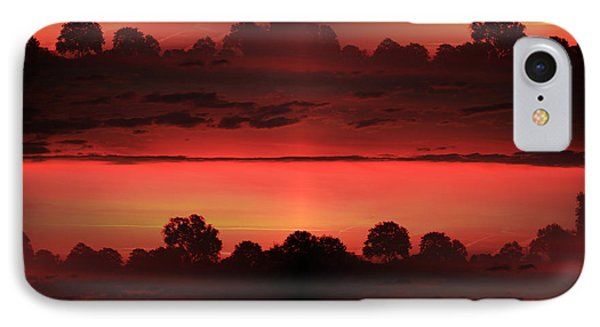 Double Red Sunrise IPhone Case