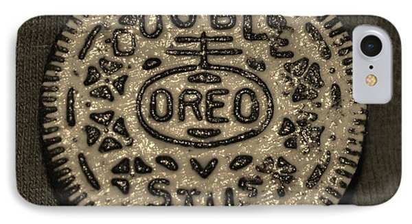 Double Stuff Oreo In Sepia Negitive IPhone Case by Rob Hans